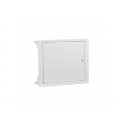 1x12 modulov, IP40, zápustná rozvodnica, dvere kovové biele