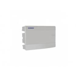 1x8 modulov, IP40, zápustná rozvodnica, dvere biele
