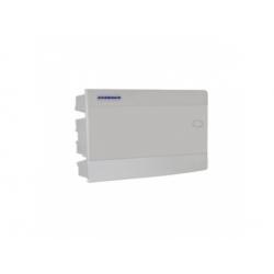 1x12 modulov, IP40, zápustná rozvodnica, dvere biele