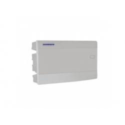 1x18 modulov, IP40, zápustná rozvodnica, dvere biele