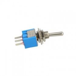 TSM103A2 páčkový prepínač, 3-pólový, modrý