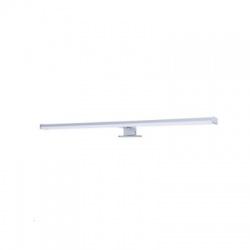 LED kúpeľňové osvetlenie nad zrkadlo, 12W, IP44, strieborné