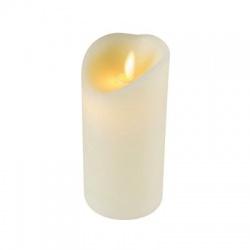 LED vosková sviečka s plameňovým efektom, 1 žltá LED