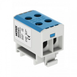 2x2,5-35mm2 OTL 35-2xAl modrá univerzálna svorka
