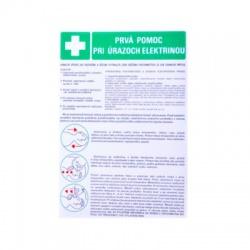 Tabuľka - Prvá pomoc pri úrazoch elektrinou