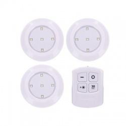 LED svetielka s diaľkovým ovládaním, 3x 50lm, časovač, batériové napájanie