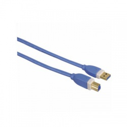 USB 3.0 kábel typ A-B, 1,8 m, modrý