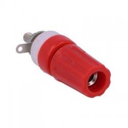 CL1506 banánik 4mm, červený, 15A, 250VDC, zásuvka