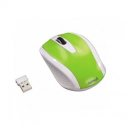 AM-7200 bezdrôtová myš, bielo - zelená
