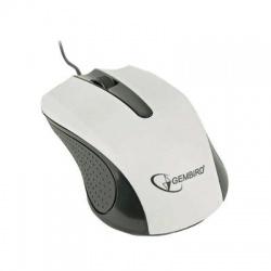 MUS-101-W USB optická myš, čierno-biela