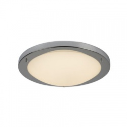 LED FLUSH CHROME FITTING OPAL GLASS 20W