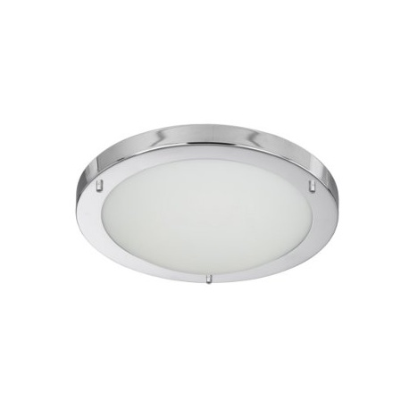 LED FLUSH CHROME FITTING OPAL GLASS 12W