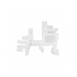E02 plastový držiak na DIN lištu, biely