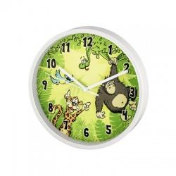 Jungle detské nástenné hodiny, priemer 22,5 cm