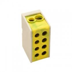 1×35, 1×25mm2, 400VAC, 125A, odbočovacia svorka, zeleno-žltá