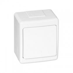 BETA vypínač č. 1 na omietku, biely, IP44