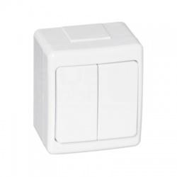 BETA vypínač č. 5 na omietku, biely, IP44
