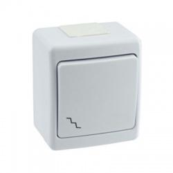 BETA vypínač č. 6 na omietku, biely, IP44