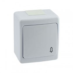 BETA vypínač č. 1/0 na omietku, biely, IP44