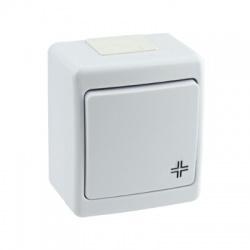 BETA vypínač č. 7 na omietku, biely, IP44