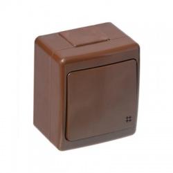 BETA vypínač č. 7 na omietku, hnedý, IP44