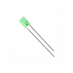 LED 2x5mm 5mcd, zelená