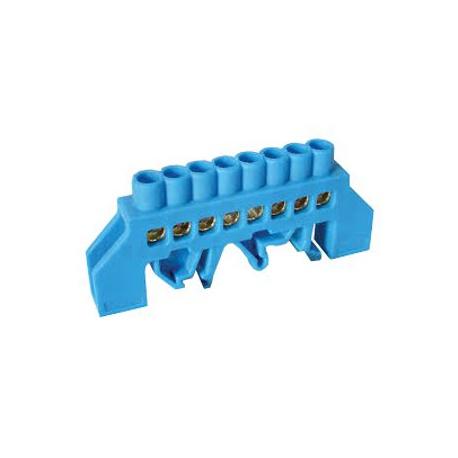 PE most, 8-vývodový, 230/400VAC, 100A, 6x9mm, modrý