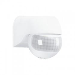 PIR senzor nástenný, vonkajší, biely