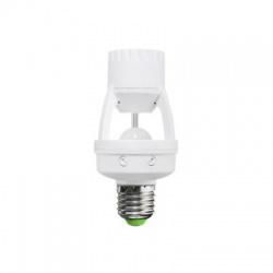 PIR senzor pro E27 žiarovku, biely