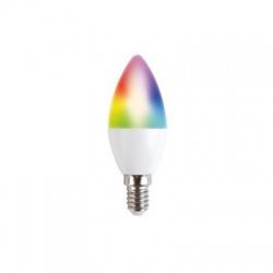 5W, RGB, E14, 400lm, LED SMART WIFI sviečková žiarovka