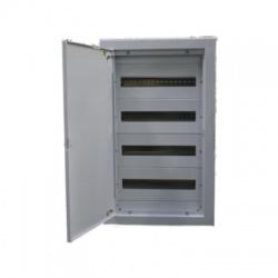 Celoplechová rozvodná skrinka pod omietku 72 modulov, 4 radová