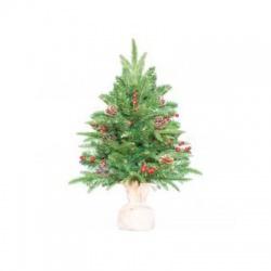 Umelý vianočný stromček, jutové vrece