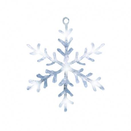KID331 dekorácia do okna - snehová vločka, akryl, 30 cm