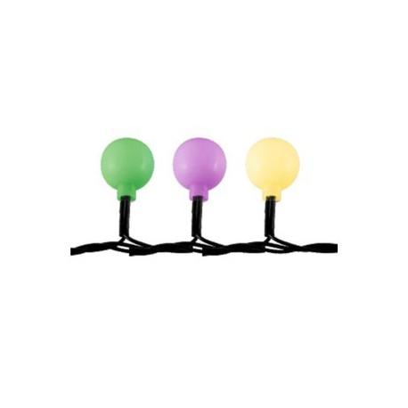 KBC 50 vianočná svetelná reťaz - guľa, IP44, farebná
