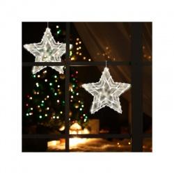 KID503B/WW dekorácia do okna - hviezda, teplá biela