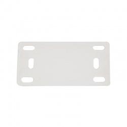 MT-2, 42,2x21mm, štítok pre sťahovacie pásky, nylon, biely