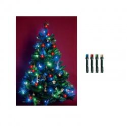 LED 200 vianočná svetelná reťaz, IP44, farebná