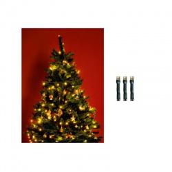 LED 200 vianočná svetelná reťaz, IP44, teplá biela
