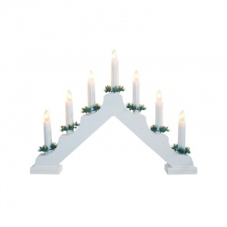 Svietnik, 7ks žiaroviek, biely