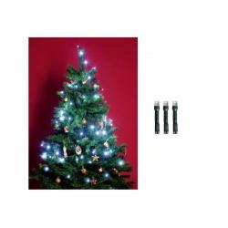 LED 200 vianočná svetelná reťaz, IP44, studená biela