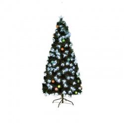 Umelý stromček s optickými vláknami a EVA guľami, 120cm