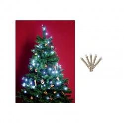 LED 50 vianočná svetelná reťaz, studená biela