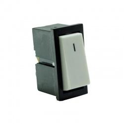 Kolískový prepínač, 1-pólový, bieločierny