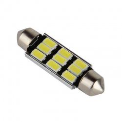 K592A LED žiarovka 12V 3W s päticou sufit SV8, dĺžka 39mmbiela