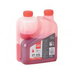 Olej 2-taktný 0,5l s odmerkou červený