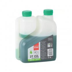 Olej 2-taktný 0,5l s odmerkou zelený.