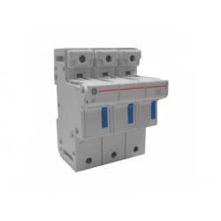 Poistkový odpínač, 3-pólový, 50A, 14x51mm