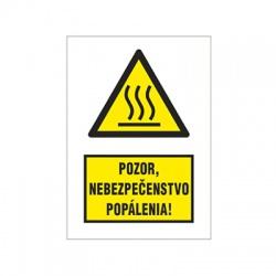 Pozor, nebezpečenstvo popálenia! 47x64mm, nálepka