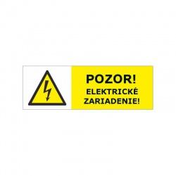 Pozor elektrické zariadenie! 60x20mm, nálepka