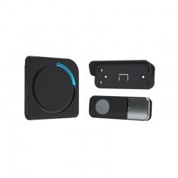 Bezdrôtový zvonček, do zásuvky, 200m, čierny, learning code, čierny